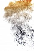 Smoke on white background