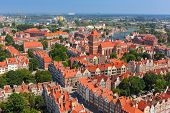 GDANSK, POLAND - 7 JULY 2014: Architecture of old town in Gdansk, Poland. Baroque architecture of th
