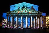 The Bolshoi Theatre During The International Festival Circle Of Light