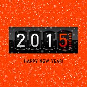 New year 2015 counter. Vector.