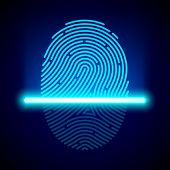 picture of fingerprint  - Fingerprint scanner - JPG