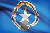 Flag Blowing In The Wind Series - Commonwealth Of The Northern Mariana Islands