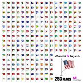 World Flags Collection - All Sovereign States Set In Vector