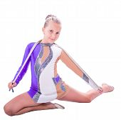 Gymnast Sitting With A Rope