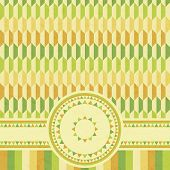 vector abstract geometrical retro card