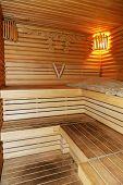 Novi Petrivtsi, Ukraine - October 14: The Sauna Interior In Mezhigirya On October 14, 2014 In Novi P