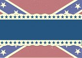 pic of flag confederate  - detailed illustration of a grungy patriotic confederate flag - JPG