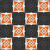 Geometrical Arabian Ornament With Slim Wire And Orange