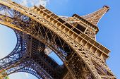 stock photo of exposition  - Wide angle view of Eiffel Tower - JPG