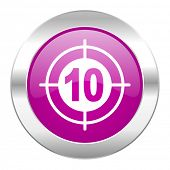target violet circle chrome web icon isolated