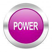 power violet circle chrome web icon isolated