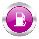 petrol violet circle chrome web icon isolated