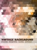 Vintage RetroDesign flyer template. Abstract background to use for music event posters ,album covers