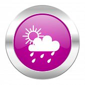 rain violet circle chrome web icon isolated