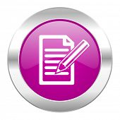 subscribe violet circle chrome web icon isolated