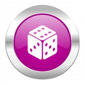 game violet circle chrome web icon isolated