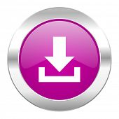 download violet circle chrome web icon isolated