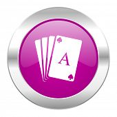 card violet circle chrome web icon isolated
