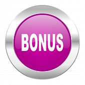 bonus violet circle chrome web icon isolated