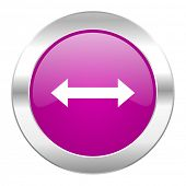 arrow violet circle chrome web icon isolated
