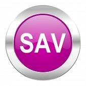 sav violet circle chrome web icon isolated