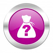 riddle violet circle chrome web icon isolated
