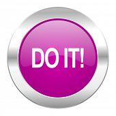 do it violet circle chrome web icon isolated