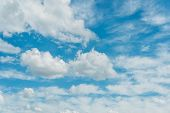 picture of stratus  - Cloudscape of bright blue sky - JPG