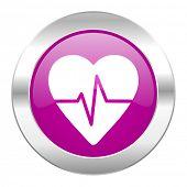 pulse violet circle chrome web icon isolated