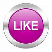 like violet circle chrome web icon isolated