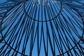Kensico Dam, NY - October 2014: Pattern of Iron Casing from the Rising Memorial for 9/11