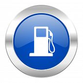 petrol blue circle chrome web icon isolated