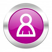 person violet circle chrome web icon isolated