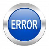 error blue circle chrome web icon isolated