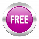 free violet circle chrome web icon isolated