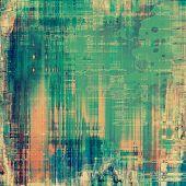Old grunge antique texture. With orange, green, blue patterns