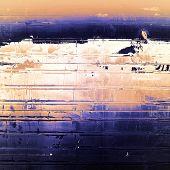 Rough grunge texture. With white, orange, blue, black patterns