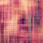 Old designed texture as abstract grunge background. With yellow, red, orange, purple patterns
