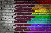 Dark Brick Wall - Lgbt Rights - Qatar