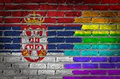 Dark Brick Wall - Lgbt Rights - Serbia