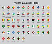 African Continent countries flags