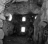 Inside Destroyed And Abandoned The Fort Alamo Used From The Austro Hungarian Army During World War I