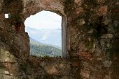 Mountain Panorama From The Window Of The Sommo Fort Used By The Austro Hungarian Army During World W