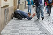 Shamed Nature Of The Art Of Begging In Prague