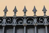 Metal wrought fence