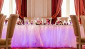 pic of wedding feast  - Photo of Luxury wedding banquet at restaurant - JPG