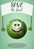 Funny Green Earth