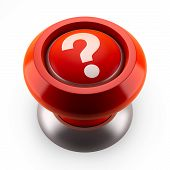 stock photo of question-mark  - Red button which question mark  - JPG