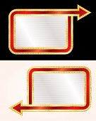 vector blank billboards with arrows and bulb lamps