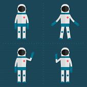 Astronaut in various poses